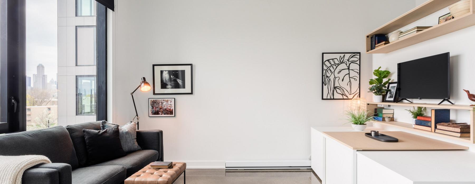 One Bedroom Living in a Studio Space